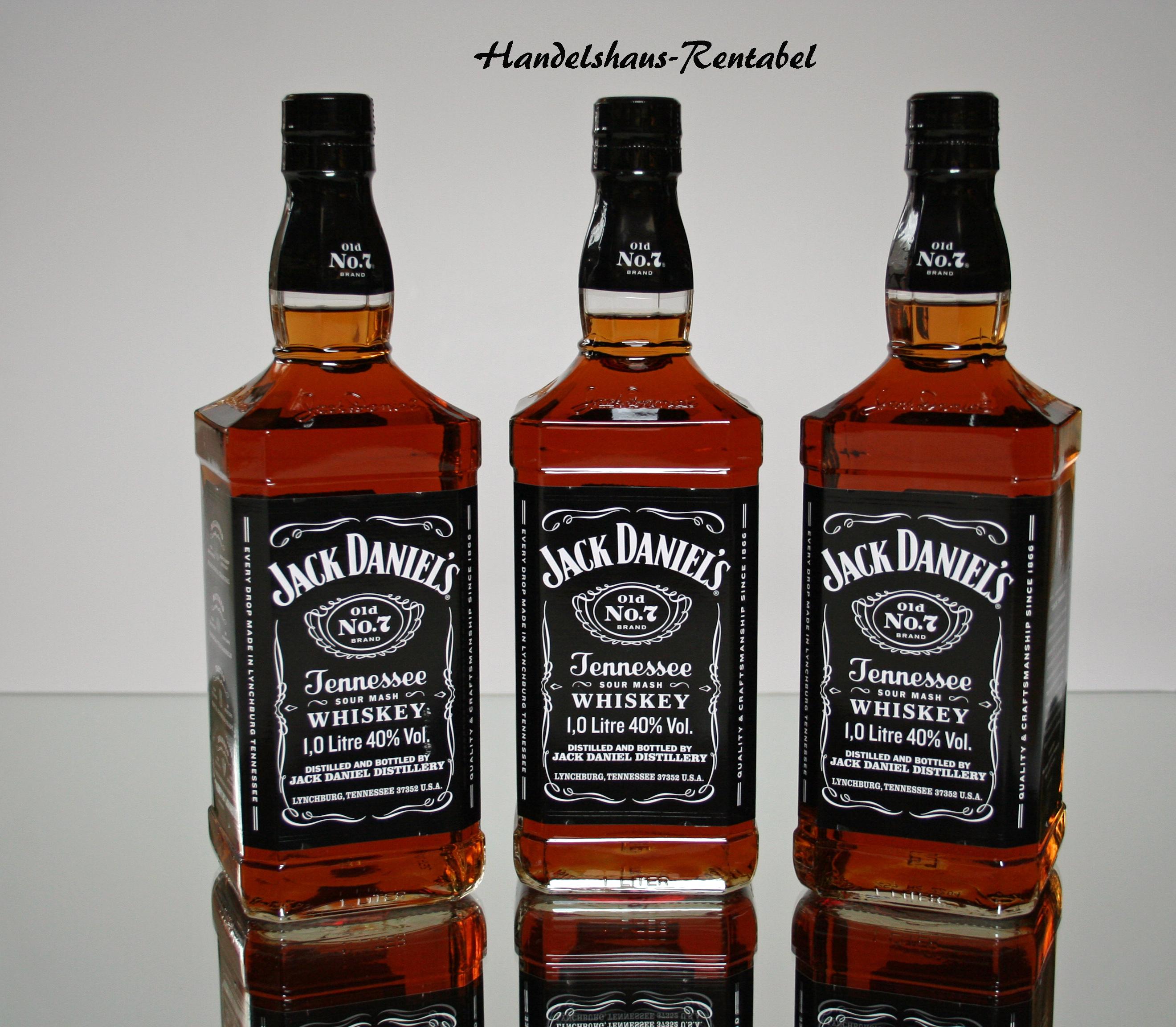 3 Flaschen Jack Daniels Tennessee Whiskey 40% 1,0 Ltr. ( 26,16 €/ L ...